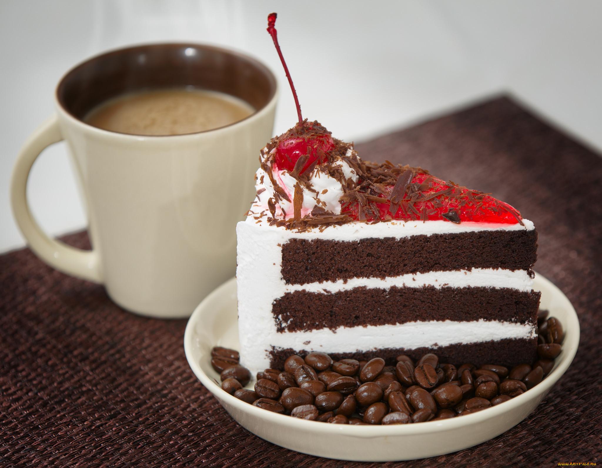 Картинка с кофе и десертом
